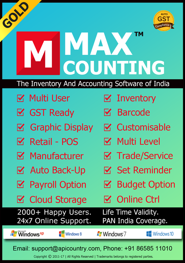 Max Counting, The Accounting & Inventory Software